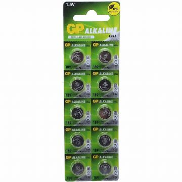 GP 189 LR54 1.5V Alkaline Batteries (10 Pack)